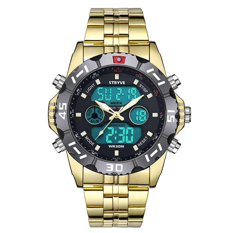 Mens Digital Sports Watch, Digital Analogue Military Waterproof Watch