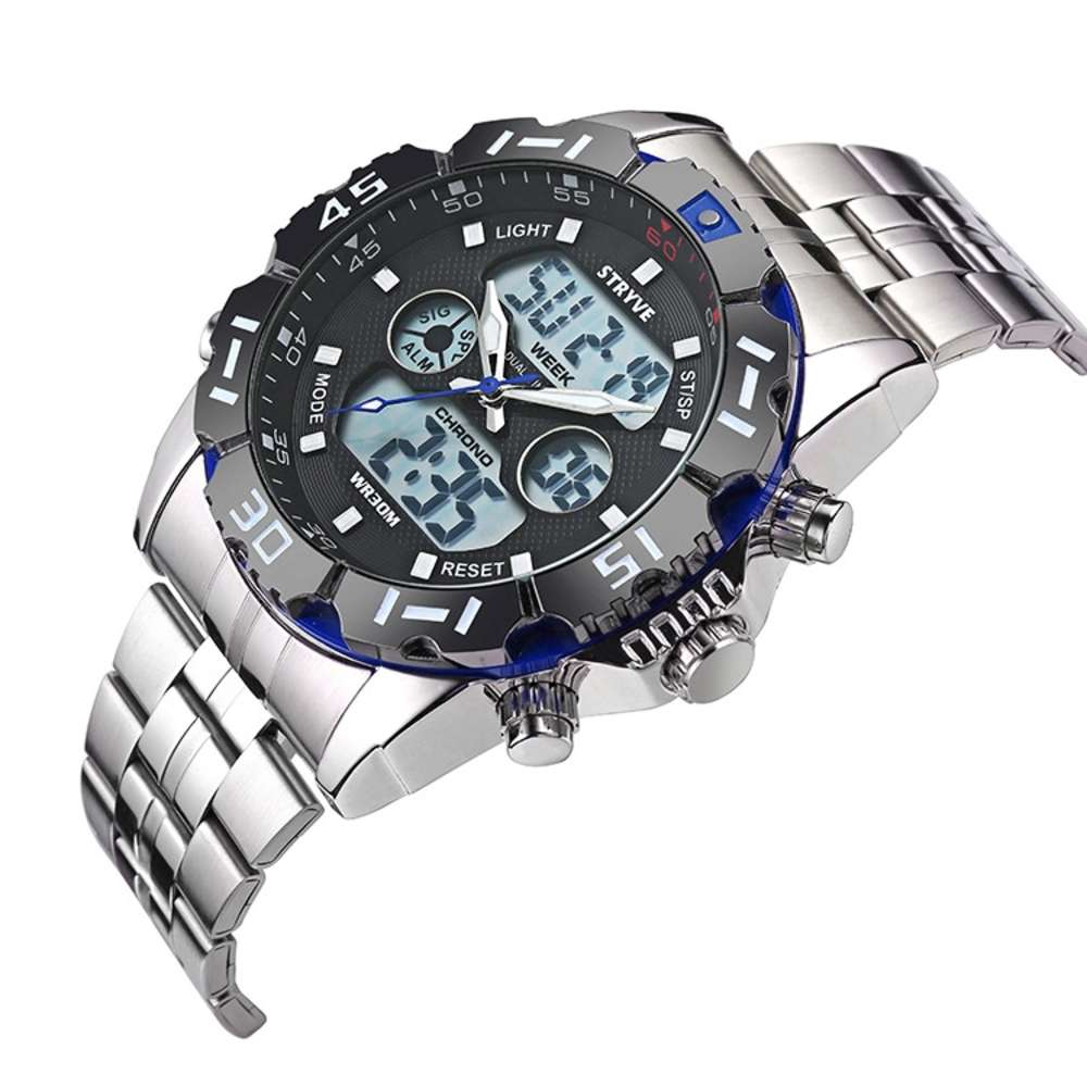 Blue Luxury Stryve Sport Waterproof Exquisite Watch For Men Stainless Steel